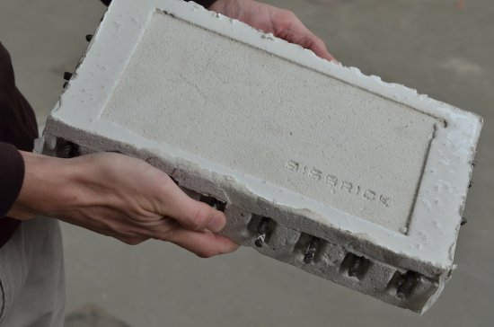Protótipo do tijolo antiterremoto. [Imagem: Ruvid/UPV]