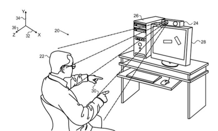 Desenhos mostram sistema parecido com o Kinect, da Microsoft – Reprodução.